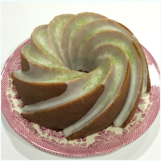 Lemon and Matcha Bundt Cake