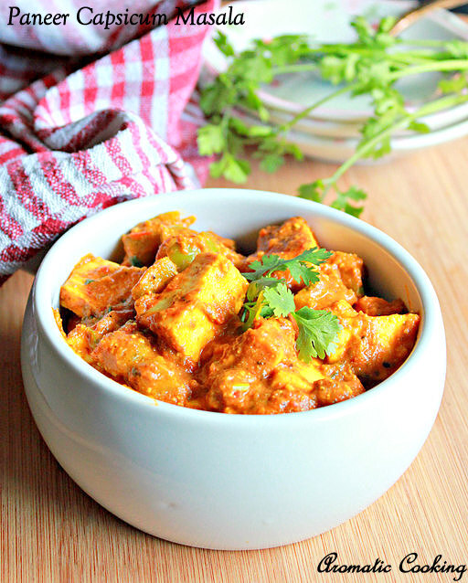 Paneer Capsicum Masala ( No Onion And Garlic )