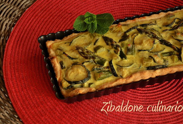 Quiche alle verdure e yogurt