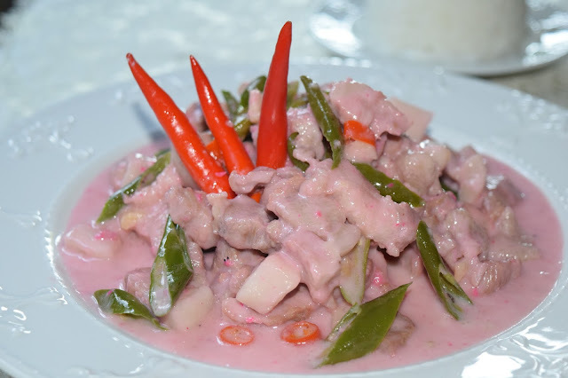 Bicol Express (Pork and Chili Peppers Stewed in Coconut Milk and Shrimp Paste)