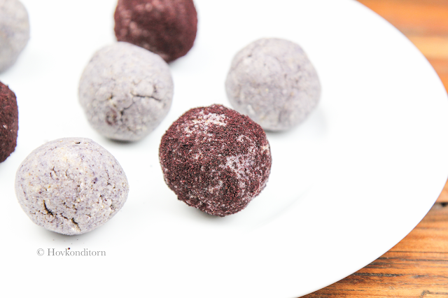 Blueberry Vanilla Protein Bliss Balls