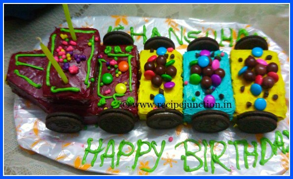 Cake decorating tutorial ~ Train cake for Kid's birthday