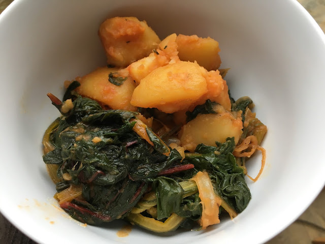 Instant Pot Pressure Cooker Paprika Chard and Potatoes