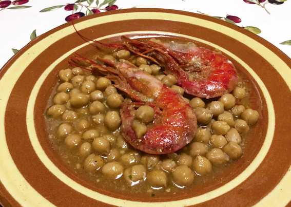 Cigrons amb Gambes