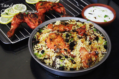 TANDOORI CHICKEN BIRYANI - HOW TO MAKE TANDOORI CHICKEN BIRYANI