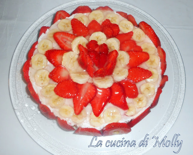 CHEESECAKE ALLE FRAGOLE E BANANE
