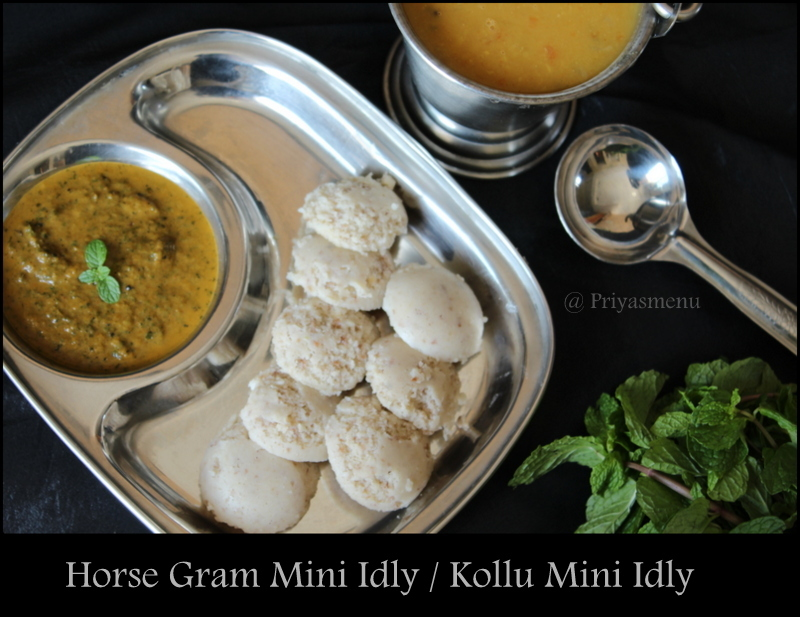 Horse gram Mini Idly / Kollu Mini Idly / Diet Friendly Recipe - 78 / #100dietrecipes