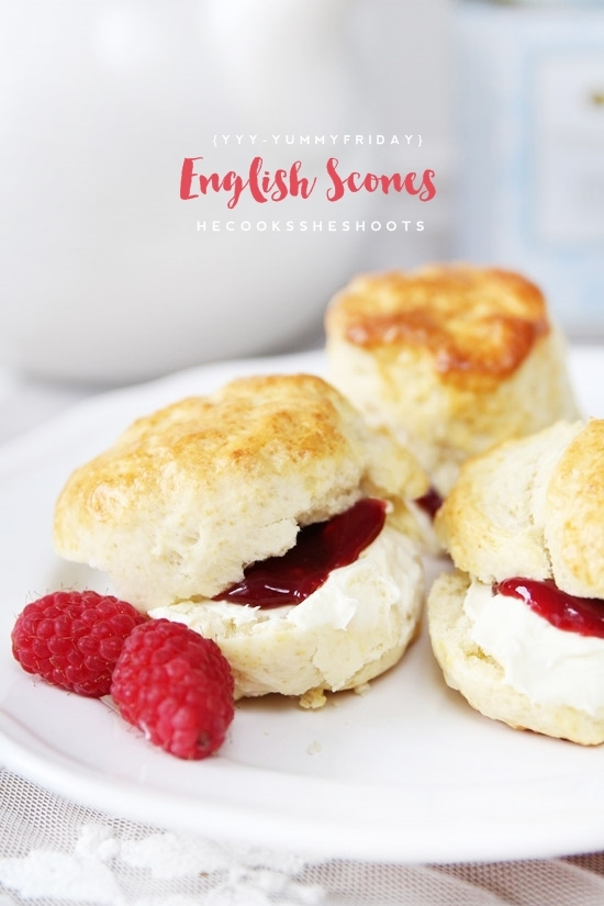 YYY - YummY fridaY - he cooks she shoots {English Scones}