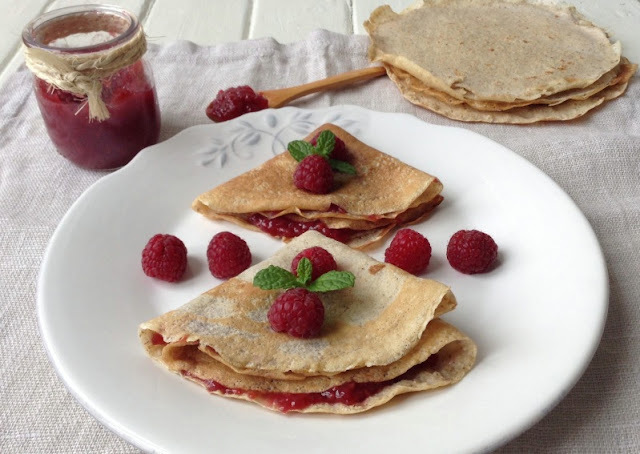 Crepes de avena con mermelada light