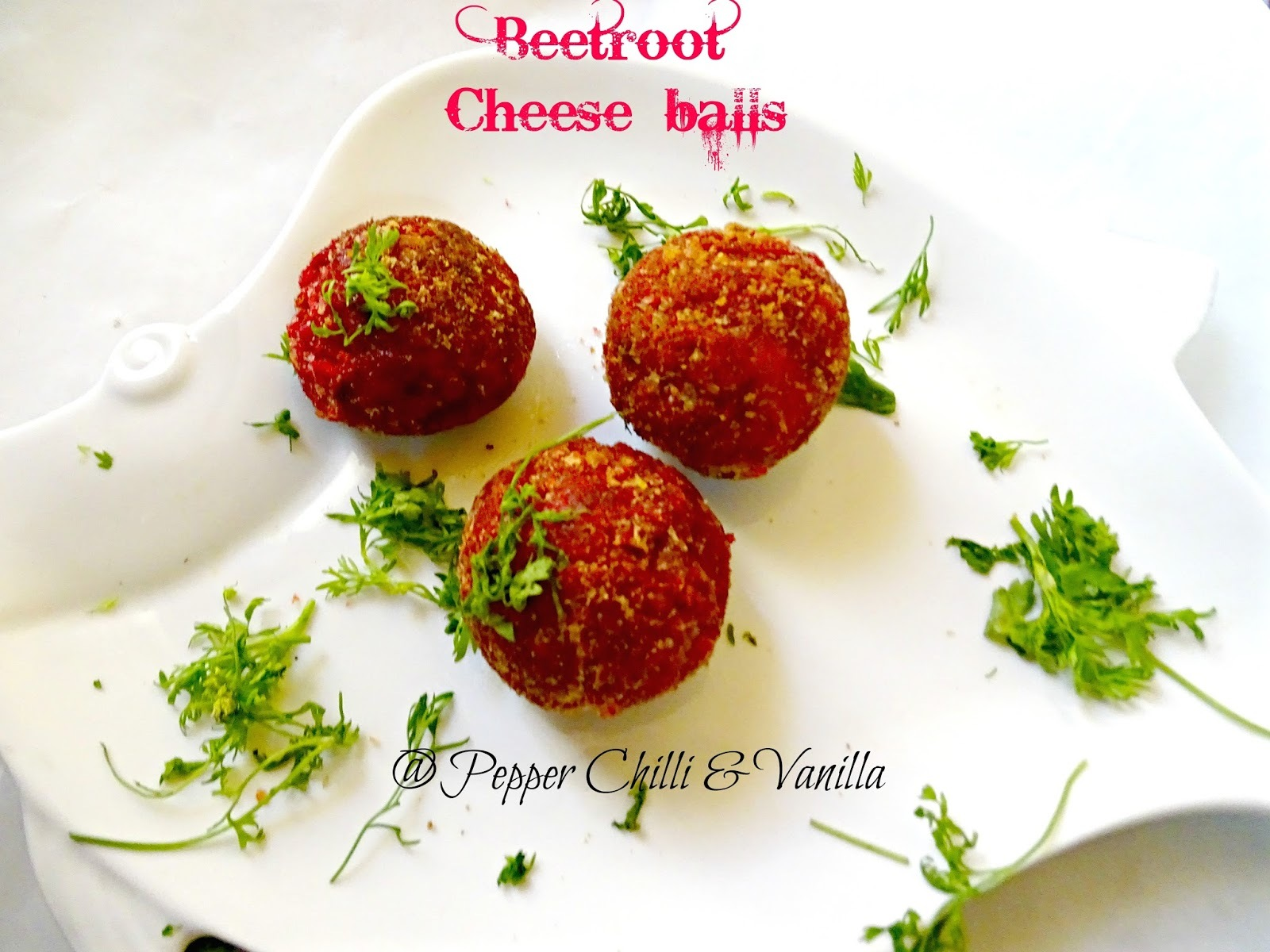 Beetroot Cheese Balls /Beetroot Cheese Cutlets in Appe Pan.