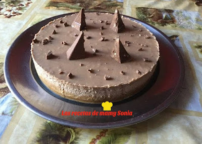 TARTA MOUSSE TOBLERONE EN THERMOMIX