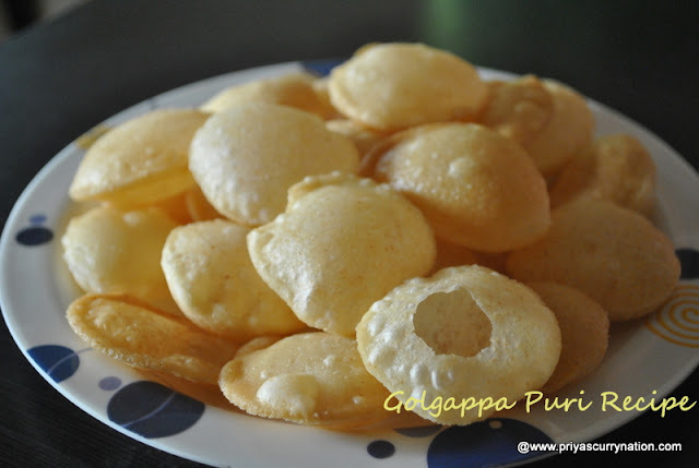 puri recipe for panipuri,how to make perfect puri for golgappa or panipuri