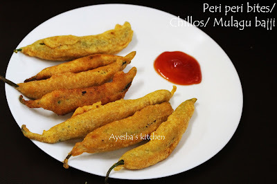 SNACK RECIPE - PERI PERI BITES / CHILLOS / MULAKU BAJJI / CHILLY BAJJI