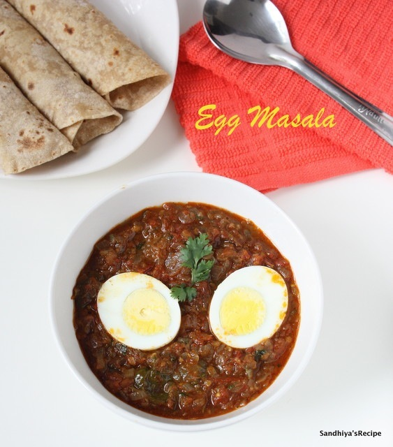 Egg Masala | Egg in Onion Tomato Masala | Side dish for roti