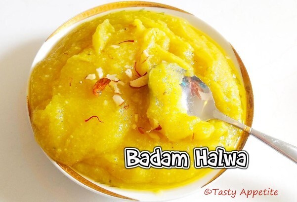 BADAM HALWA / ALMOND HALWA - Easy Video Recipe