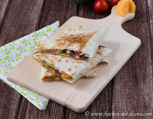 Vegetarische Quesadillas/ Vegetarian quesadillas