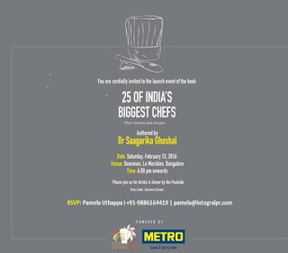 25 of India's Biggest Chefs Cookbook in Bangalore unveiled by Metro