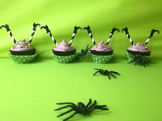 halloween witch cupcakes.