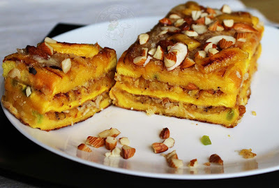SWEET BREAD LASAGNA / LAYERED SWEET WITH BREAD AND PLANTAIN