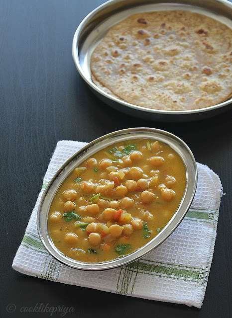 Chickpeas Coconut milk Curry | Chapati side dish recipe