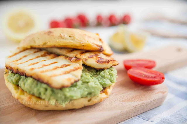 Avocado Halloumi Burger