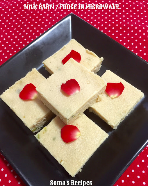 MILK BARFI / FUDGE IN MICROWAVE