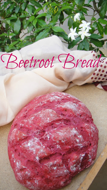 Beetroot Bread – With Indian Twist #BreadBakers