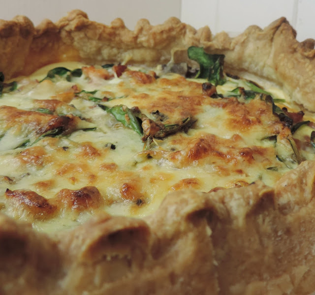 Mushroom, Bacon And Spinach Quiche