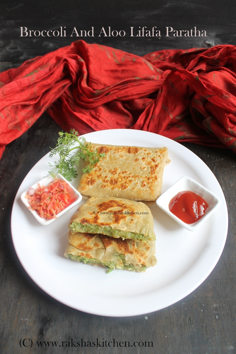 Broccoli And Aloo Lifafa Paratha