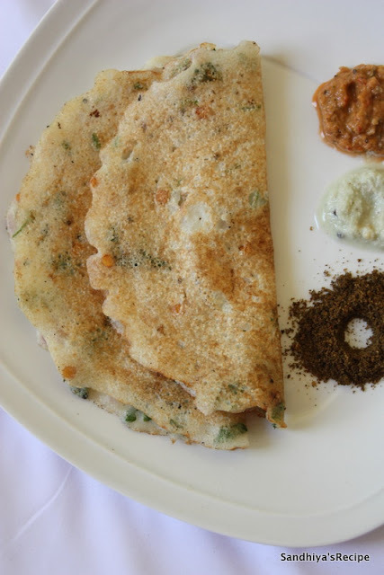 Rava Dosai with left over dosa batter | Easy Rava Dosai