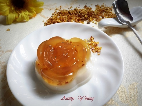 桂花 椰奶果冻( Osmanthus and Coconut Milk Jelly)