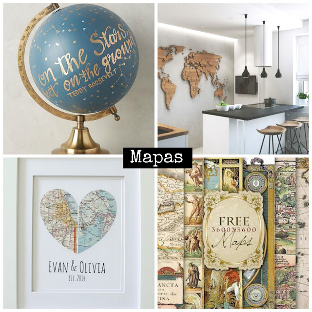 Ideas de Mapas en Decoración