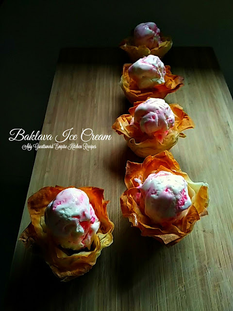 Baklava Ice Cream Cups