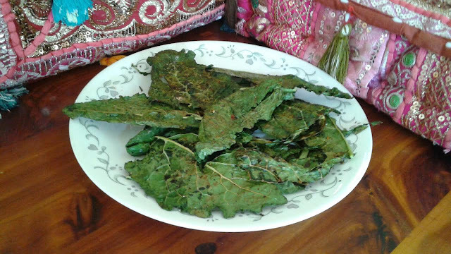 Crispy Kale Recipe /Baked Kale Chips Recipe / Kale Chips Recipe