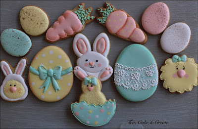 Easter Cookies - Peach Royal Icing