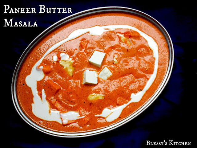 Butter Paneer Masala/ Paneer Butter Masala/ Paneer Makkan Wala/ Buttery Cottage Cheese Curry/ Ricotta Cubes Curry