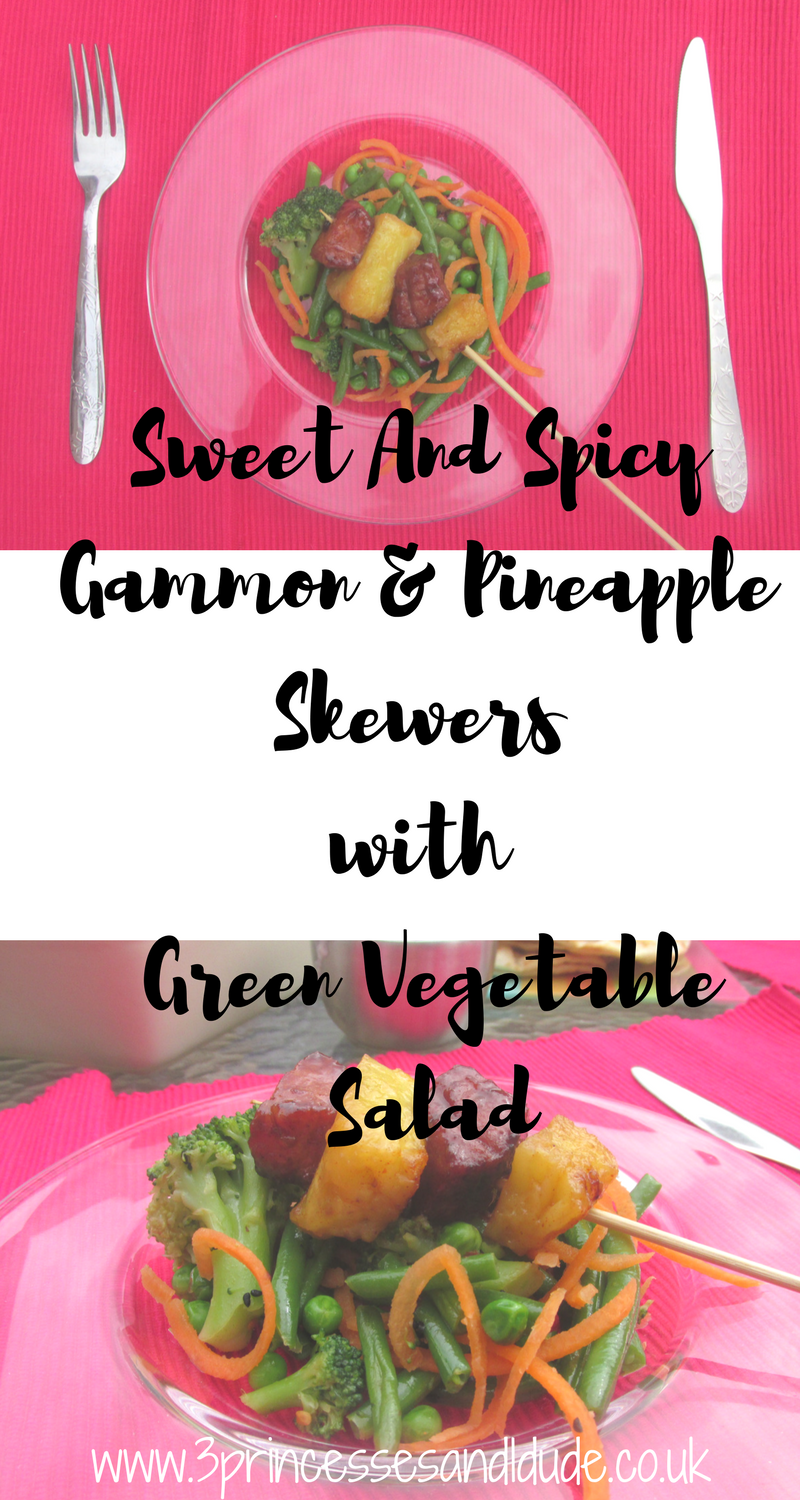 Sweet And Spicy Gammon & Pineapple Skewers with Green Vegetable Salad | Sunday Lunch Al Fresco Style