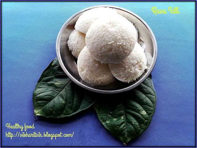 RAVA IDLI / IDLI USING IDLI RAVA / SIMPLE IDLI / SOUTH INDIA'S POPULAR BREAKFAST