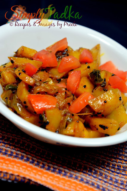 Kalonji Aloo Stir Fry | Stir Fried Potato Onion with Nigella Seeds