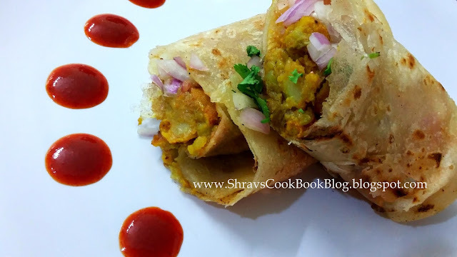 Recipe of Veg Frankie - Veg Kathi Roll Recipe - Vegetable Frankie Recipe