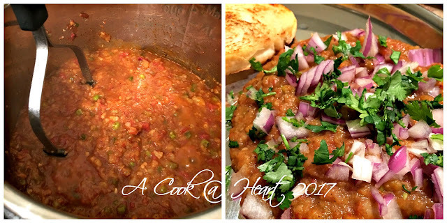Fuss free Pav Bhaji in the Electric Pressure Cooker  / IP