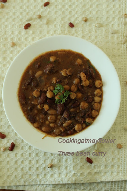 Vegan three bean curry / Three bean curry / No onion No garlic three bean curry recipe