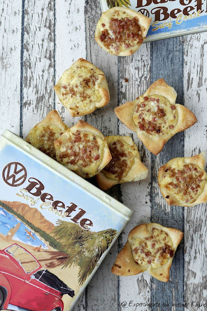 Unterwegs mit VW: Zwiebelkuchen-Muffins / Onion tart muffins    {Werbung: this post is sponsored by Volkswagen}