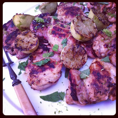 Grilled Chicken with Lime and Mint