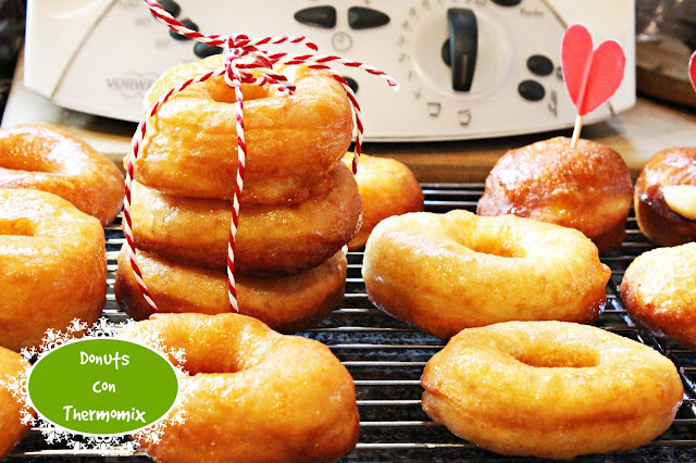DONUTS CLÁSICOS CON THERMOMIX