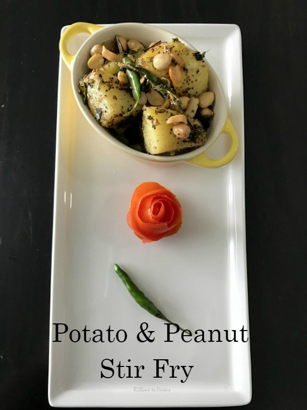 Potato & Peanut Stir Fry