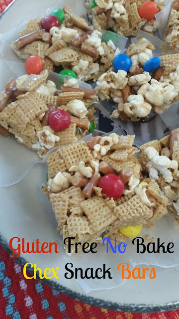 Gluten Free No Bake Chex Snack Bars
