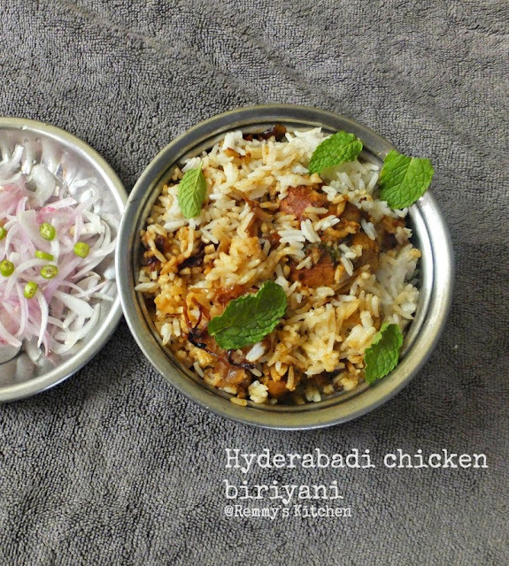 Hyderabadi chicken dum biriyani