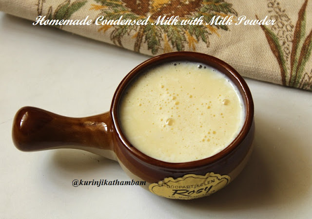 Homemade Condensed milk / Homemade milkmaid with milk powder