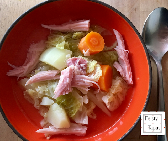 Instant Pot Ham and Cabbage Soup